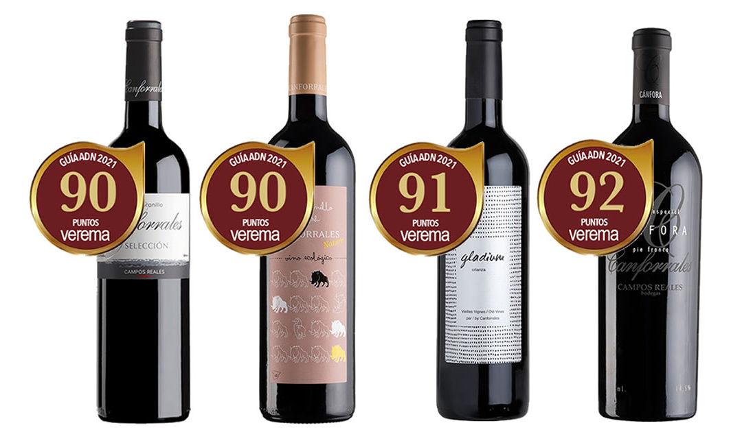 Cuatro vinos de Bodegas Campos Reales con 90 o más puntos en la Guía ADN 2021